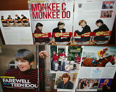 The Monkees 36x Clippings 1978-recent Davy Mickey+