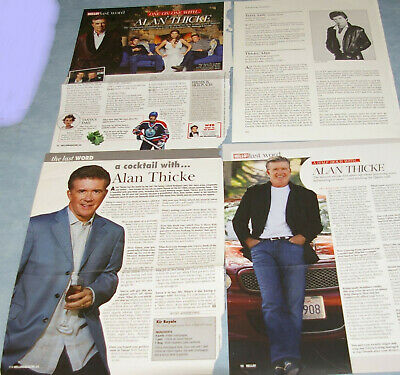 ALAN THICKE 52x Clippings 1980s-recent