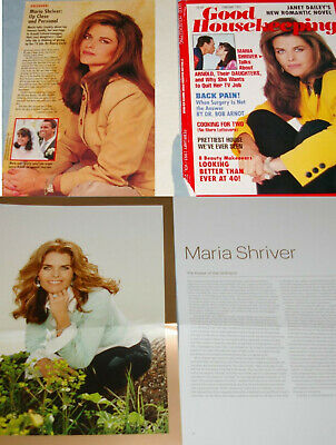 MARIA SHRIVER 45x Clippings Cover early1990s-to-recent