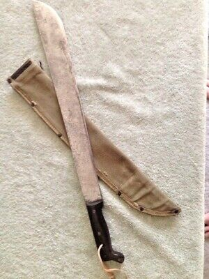 Nice Original Wwii Usgi M-1942 Machete, Legitimus Collins & Co W/Avory Sheath