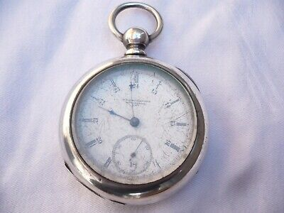 Elgin 18s private label pocket watch Coin Silver KWKS