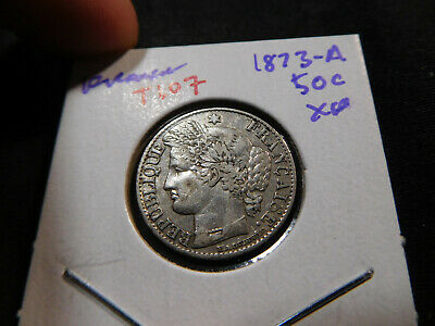 T107 France 1873-A 50 Centimes XF