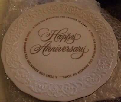 """Hallmark Happy Anniversary The Promise Of Love"""" Collectible Plate 1970'S W/ Box"""