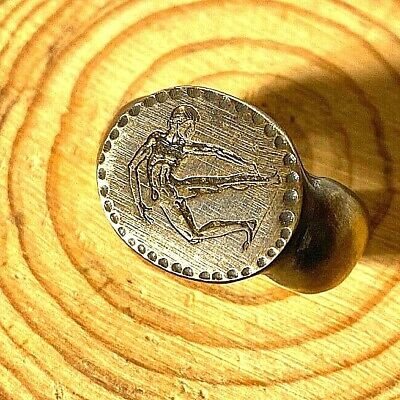 Bronze RING Antiques Ancient Rare GREEK OLYMPIC ATHLETE
