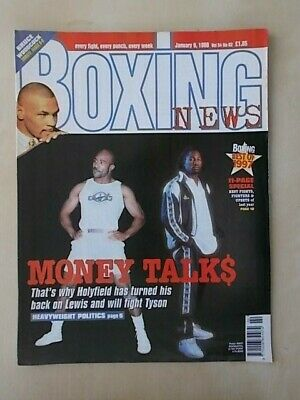 BOXING NEWS 9th JANUARY 1998 EVANDER HOLYFIELD TO FIGHT TYSON AGAIN