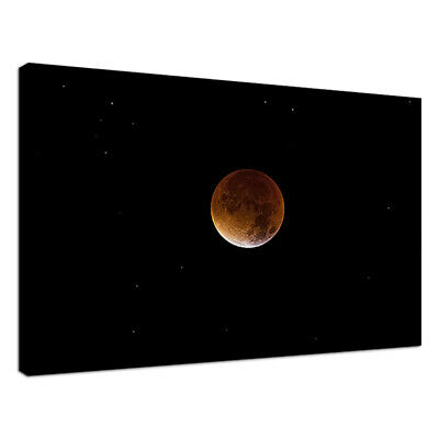 C111 Red Blood Moon Canvas Wall Art Ready to Hang Picture Print