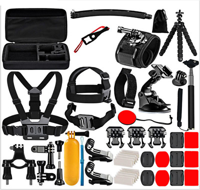 52Pcs Accessories Kit For GoPro Hero 8 7 6 5 4 3  Black Silver Withe Go Pro 2018
