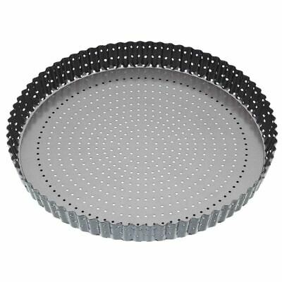 Master Class Crusty Bake Quiche Tin - Perforated Holes & Dishwasher Safe - 330mm