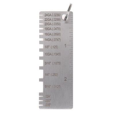 Wire Gauge Thickness Measuring Tool Wire//Sheet Metal Gage Measurement SL