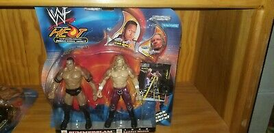The Rock and Triple H 2-Pack Famous Scenes Series 1 WrestleMania XVII Jaaks