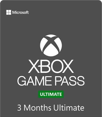 Xbox Game Pass Ultimate 3 Month Gold Membership Quick Delivery!