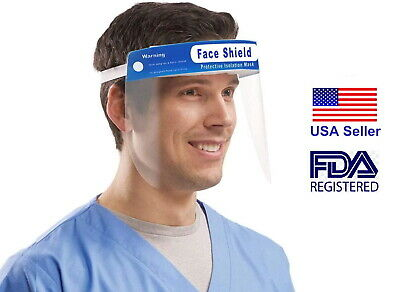 Safety Full Face Shield Clear Glasses Protector Anti-Fog Work Industry Dental