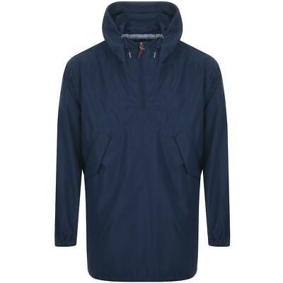 RRP £95 Pretty Green Navy Blue Overhead Hooded Jacket