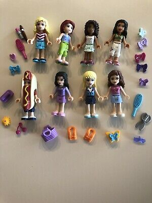 1 Boy /& Tons of Accessories Lego Minifigure Friends Lot C ~ 7 Different Girls