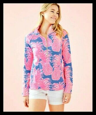 NWT LILLY PULITZER PARADISE TINT SKIPPER POPOVER LACE SHOULDERS XL