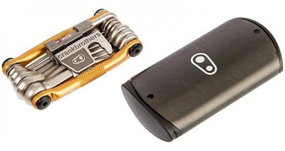 Crankbrothers M19 Multi Tool with Case,19-Function,Bicycle maintenance Tool-Gold