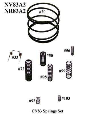 CoFast® High Quality 5 Piston O-Rings Set Aftermarket Hitachi NR83A2 877-368