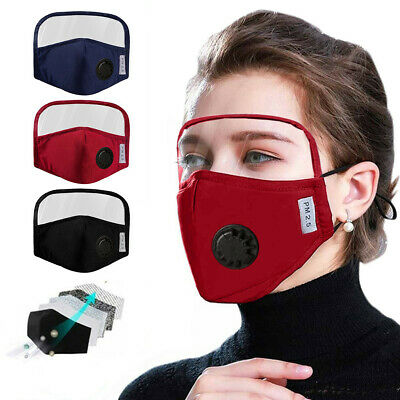 Protective Cotton Mask Integrated With Goggles Mask With Breathing Valve Adult