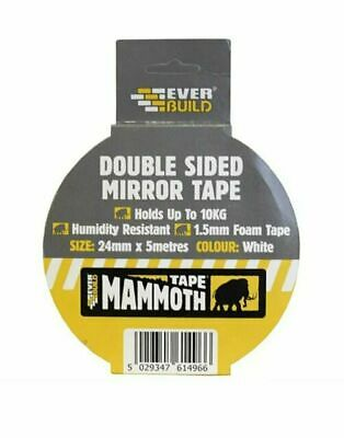 Everbuild Mounting Tape Double Sided Mirror Tape Holds Up To 10KG