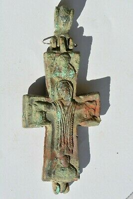 Byzantine bronze encolpion cross 8th century AD