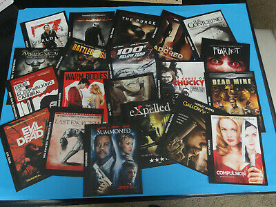 """Lot of 25 BLOCKBUSTER VIDEO Backer Cards 8/"""" X 5/"""" No Movie Mini Posters"""