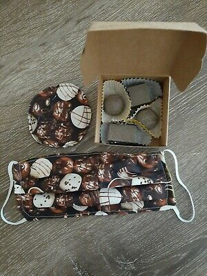 Box Of Chocolate Soaps Adult Face Mask & Face Pad