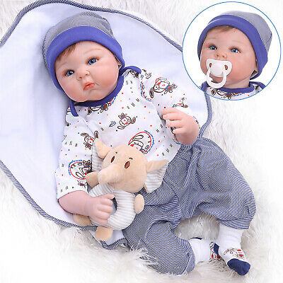 22'' Real Looking Reborn Baby Doll Soft Silicone Handmade Newborn Toddler Dolls