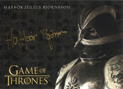 Game Of Thrones Season 8 Gold Autograph Card, Hafdor Julius Bjornsson Mountain
