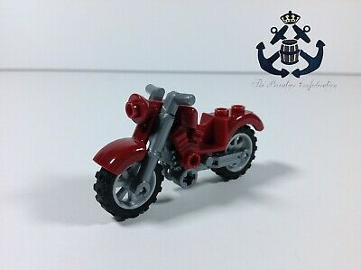 LEGO Medium Azure Vintage Classic Motorcycle Custom With Silver Chassis