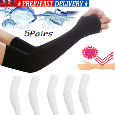 Outdoor Cooling Arm Sleeves Hand Cover UV Sun Protection for Cycling Sport @FZ