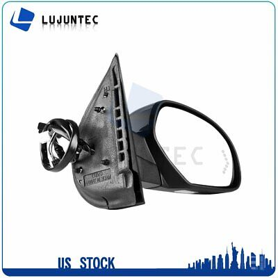 LUJUNTEC Passenger Side View Mirror Fits for 2007-2012 Nissan Sentra Non-Folding Non-Heated Black