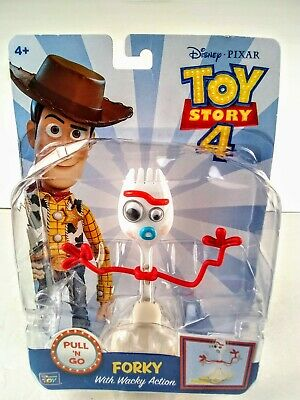 Thinkway Toys Disney Toy Story 4 Forky With Wacky Action Pull /'n Go Spork 64472