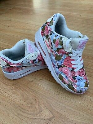 WOMEN'S NIKE AIR Max 90 Floral Print Pink Trainers UK 3 US