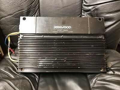 Kenwood Kac 820 2 Channel Old School Car Amplifier Fs Vintage