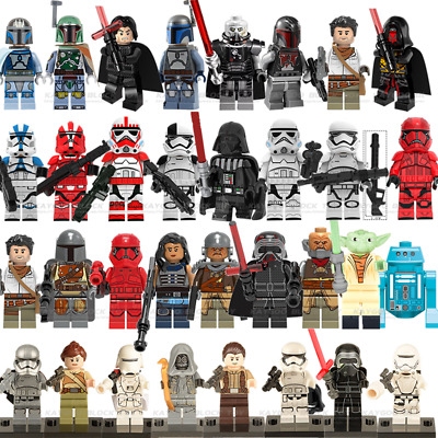 Lego Star Wars Minifigures Darth Vader Yoda Obi Wan Solo Stormtrooper Trooper