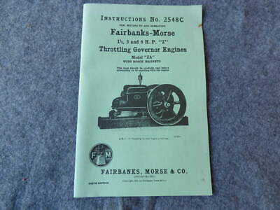 Fairbanks Morse Instruction Manual 2548C 1 1/2-3 & 6 HP Z - ZA W Bosch Magneto