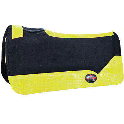 CHALLENGER 30x30 Horse Saddle PAD Contoured 3//4 Wool Felt Western Barrel Close Contact 39121BR2