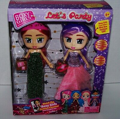 BOXY GIRLS LETS PARTY 2 PACK GRACIE /& JASMINE W//LIMITED EDITION PROM DRESSES