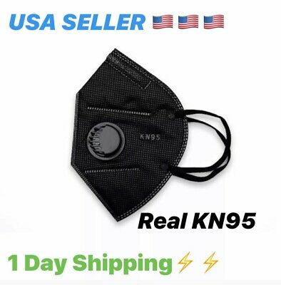 [1 BLACK Face Mask CE/ECM Certified | USA SELLER 🇺🇸 |  1 DAY SHIPPING 🔥🔥🔥