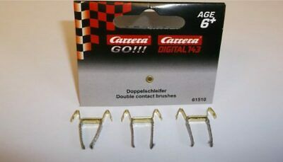 Greenhills Scalextric Carrera Go!! Double Contact Brushes // Braids x 6 New G1140