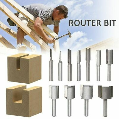 Router Bit Shank Flute Carbide Straight Single Double Edge Woodworking Cutter