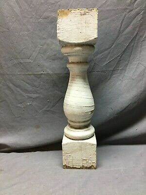 1 Large Antique Turned Wood Spindle Porch Baluster Thick Chunky Old VTG  645-20B