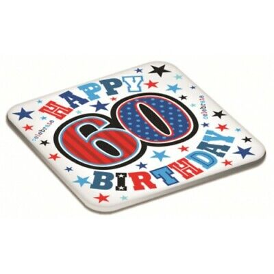 A Fun 60th Birthday Gift Male Age 60 Drinks Mat Coaster New /& Sealed