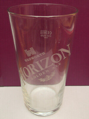 Wadworth Horizon Golden Ale pint glass great Christmas gift free uk p/&p