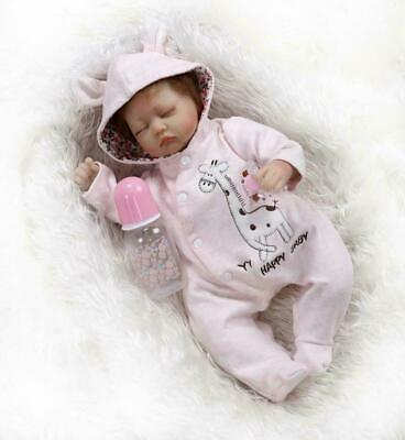 Girl 16inch Reborn Baby Dolls Realistic Cute Newborn Doll Lifelike Pink Toddler