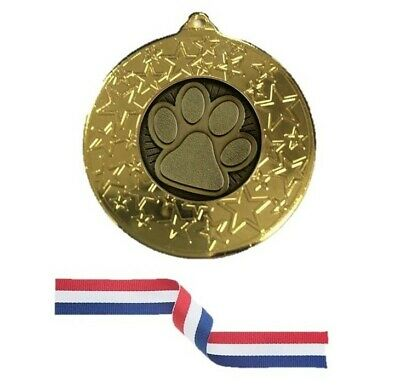 Sunflower Gold Silver Bronze medal 50mm /& red white blue ribbon FREE Engraving