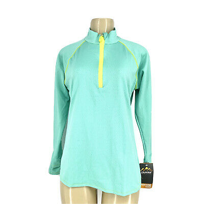 Small 45ZSMTL ColdPruf Womens Honeycomb Base Layer 1//4 Zip Mock Neck Top Teal