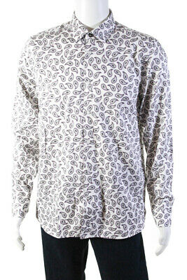 New Ted Baker Mens Monkey Animal Print Button Up S//S Shirt Size 3 Medium M NWT