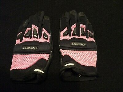 NEW ICON BLACK WIREFORM MOTORCYCLE GLOVE ALL SIZES CRUISER SPORT STUNT FREE SHIP