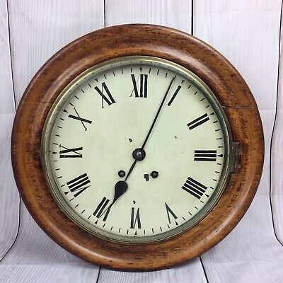 Vintage School / Station Wall Clock With Chime. Working. Needs Slight Attention